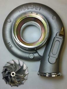HX40 Compressor Wheel and Housing